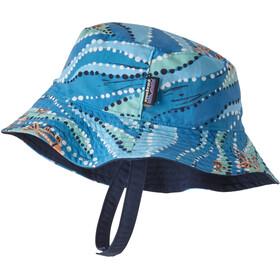 Patagonia Sun Bucket Hat Kinder bell bay/port blue